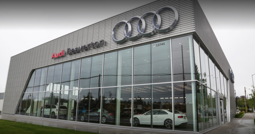 Audi Service Center in Beaverton, Oregon, USA