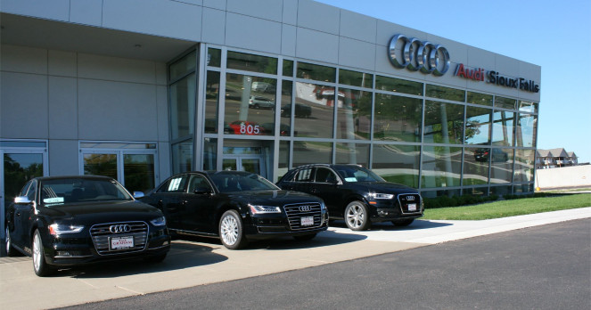 Audi service center in Sioux Falls, South Dakota, USA