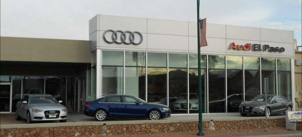 Audi Service and Parts Center in El Paso, Texas, USA