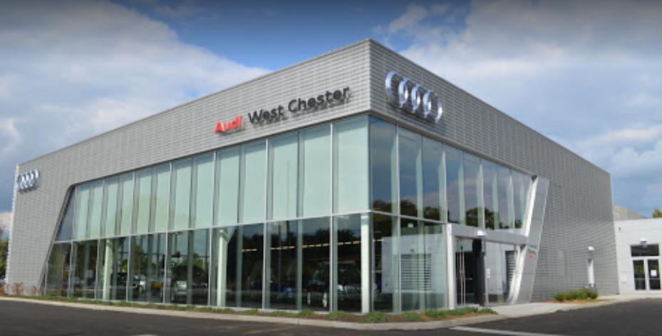 Audi service center in West Chester, Pennsylvania, USA