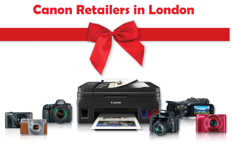 Canon Retailers in London, UK for consumer products