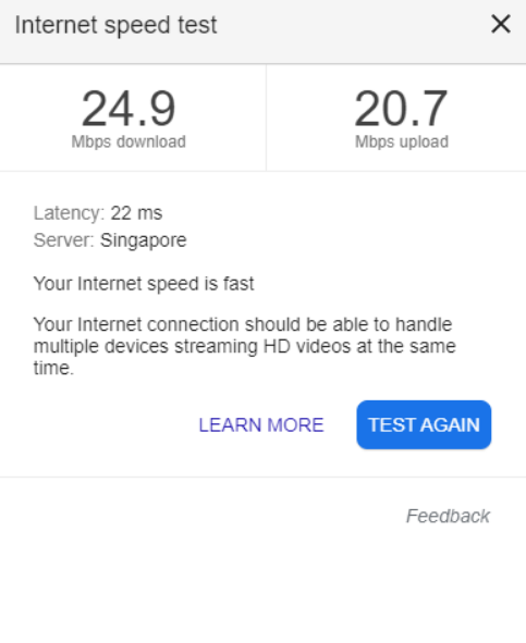 StarHub Internet Speed Test - Both Upload and Download speed cut-down to half (A Broadband Consumer review on Twitter @StarHubCares)